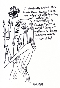 Dame Darcy is the QUEEN of fantastical characters.
